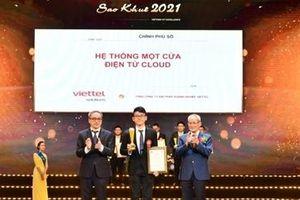 22 sản phẩm chủ lực xây dựng xã hội số của Viettel đạt giải Sao Khuê