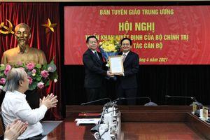Đồng chí Phùng Xuân Nhạ được bổ nhiệm làm Phó trưởng Ban Tuyên giáo Trung ương