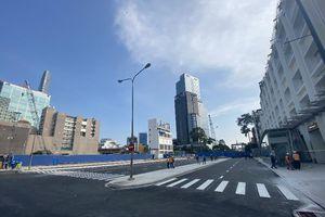 Diện mạo đường Lê Lợi sau khi bỏ rào chắn metro số 1