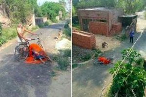 Covid-19 ở Ấn Độ: Chở thi thể vợ trên xe đạp tìm nơi hỏa táng