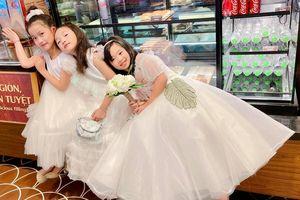 Con gái Mai Phương xuất hiện xinh xắn: Diện váy trắng dễ thương như công chúa