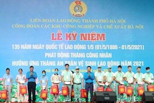 Công đoàn các khu công nghiệp và chế xuất Hà Nội phát động Tháng Công nhân 2021