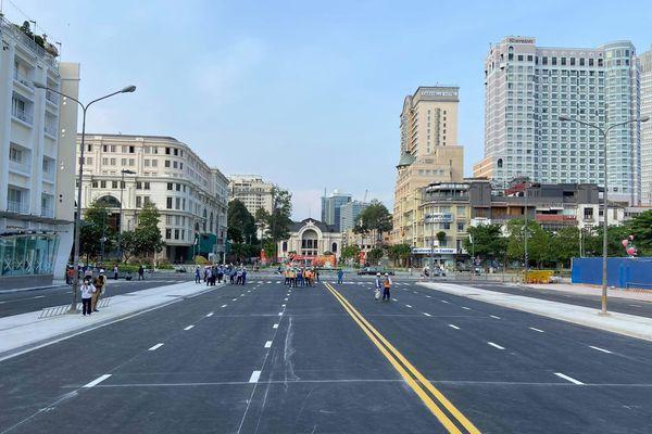 TP.HCM: Tháo dỡ xong rào chắn metro số 1 đường Lê Lợi