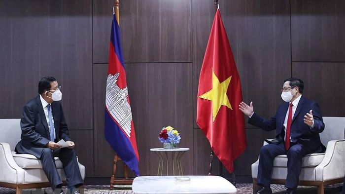 Thủ tướng Chính phủ Phạm Minh Chính gặp gỡ song phương Thủ tướng Campuchia, Singapore, Malaysia