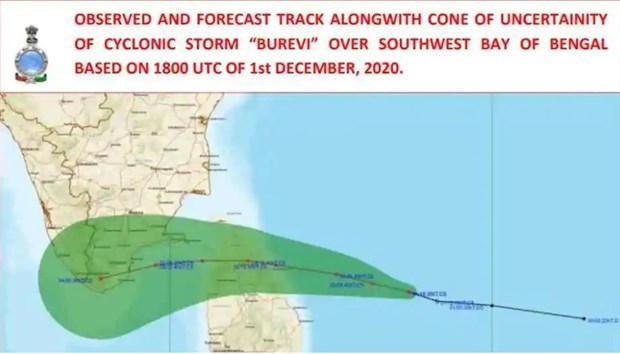 Sri Lanka sơ tán hàng chục nghìn người dân để tránh bão Burevi Ảnh 1