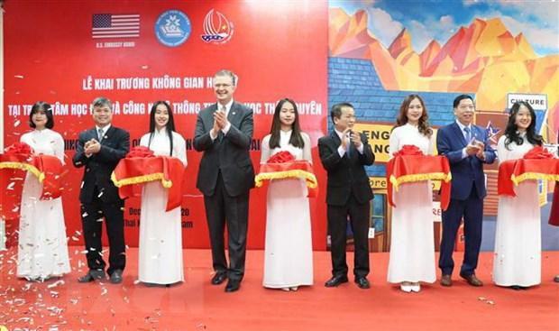 Đông đảo sinh viên dự khai trương 'Không gian Hoa Kỳ' tại Thái Nguyên Ảnh 1