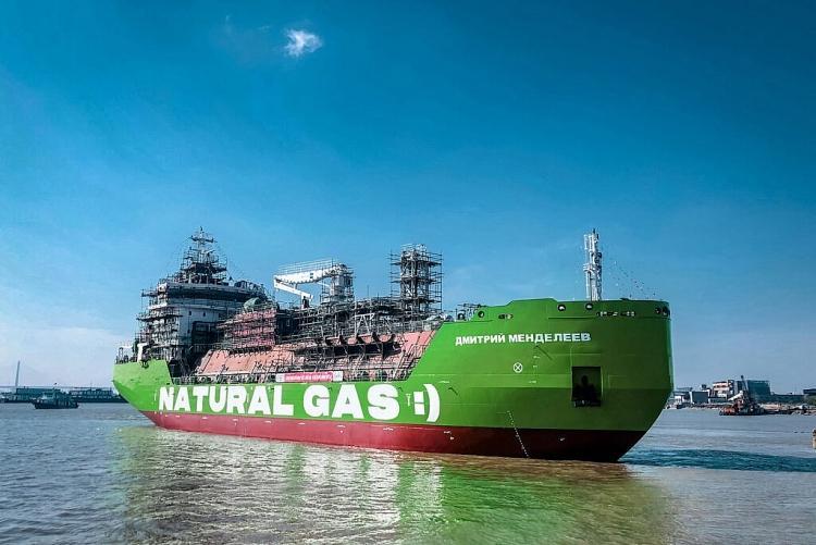 Nga hạ thủy tàu chở LNG đầu tiên của nước này Ảnh 1