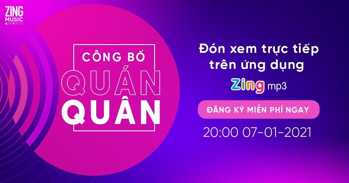 ZMA 2020 livestream công bố kết quả vào 20h ngày 7/1 trên Zing MP3 Ảnh 1