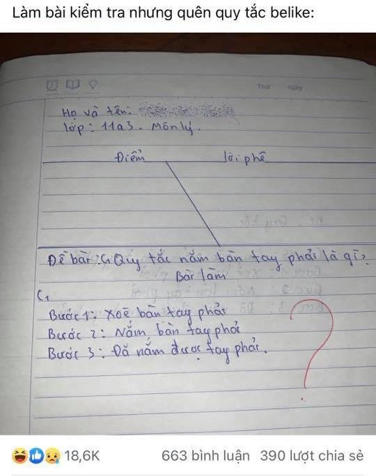 Đi thi nhưng lại quên kiến thức, teen sáng tạo ra quy tắc mới khiến giáo viên 'ngã ngửa' Ảnh 2