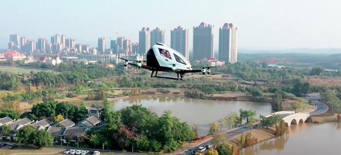 Công ty Trung Quốc mở dịch vụ ngắm cảnh bằng taxi bay Ảnh 1