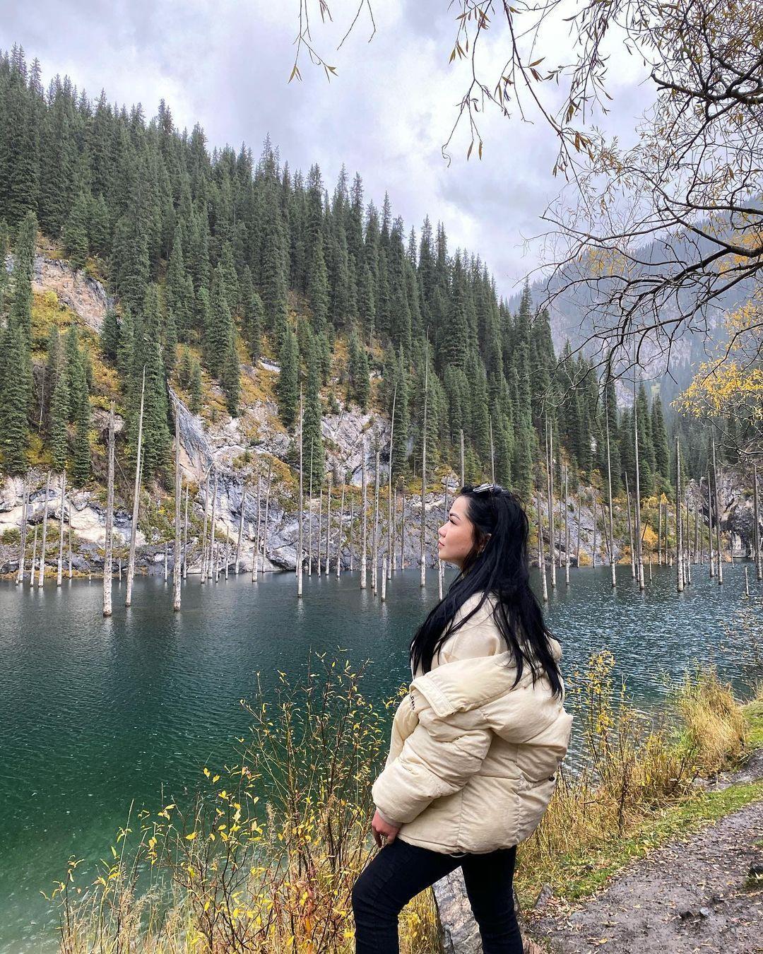 Hồ nước có rừng cây mọc ngược từ dưới đáy Ảnh 2