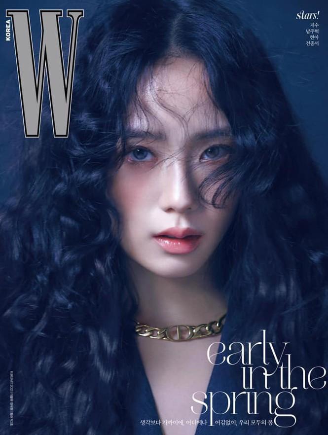 Jisoo BLACKPINK khoe nhan sắc cực kỳ ấn tượng trên bìa W Hàn, nhưng netizen lại nhắc đến Lisa Ảnh 1