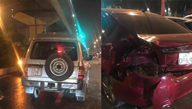 Hà Nội: Tài xế gây tai nạn rồi bỏ chạy đến công an trình diện Ảnh 1