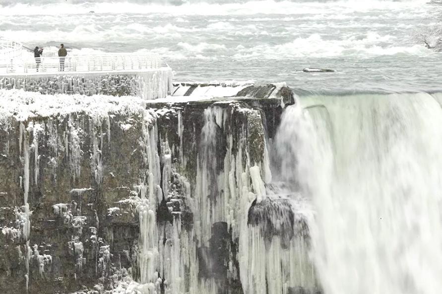 Vẻ đẹp của thác Niagara vào mùa đông Ảnh 2