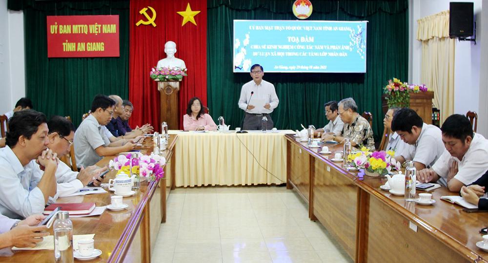 UBMTTQ VN tỉnh An Giang chia sẻ kinh nghiệm trong công tác nắm dư luận xã hội Ảnh 1