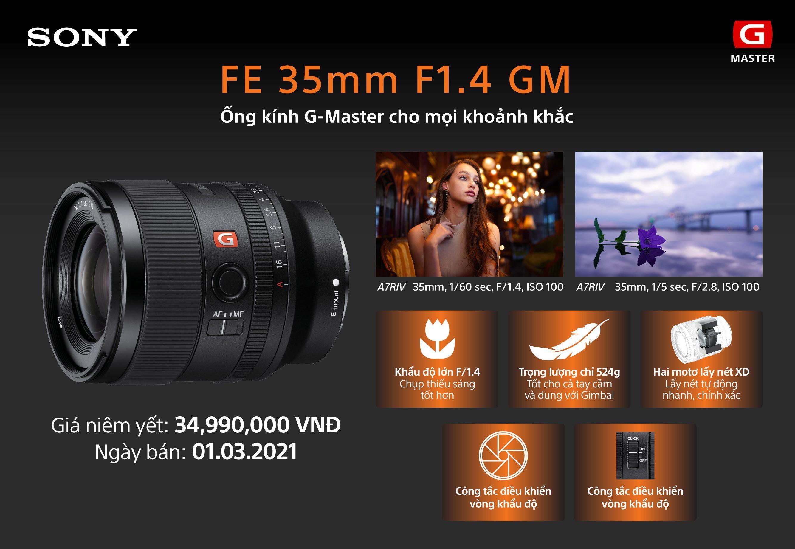 Sony ra mắt ống kính FE 35mm F1.4 GM mới Ảnh 6