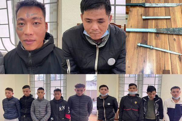 Bắt 11 đối tượng ở Thanh Hóa bịt mặt chặt phá đào, quất bán tết Ảnh 1