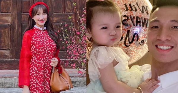 Vừa mới công khai con trai, Hòa Minzy 'chơi lớn' mừng tuổi con gái Bùi Tiến Dũng 10 triệu đồng Ảnh 1