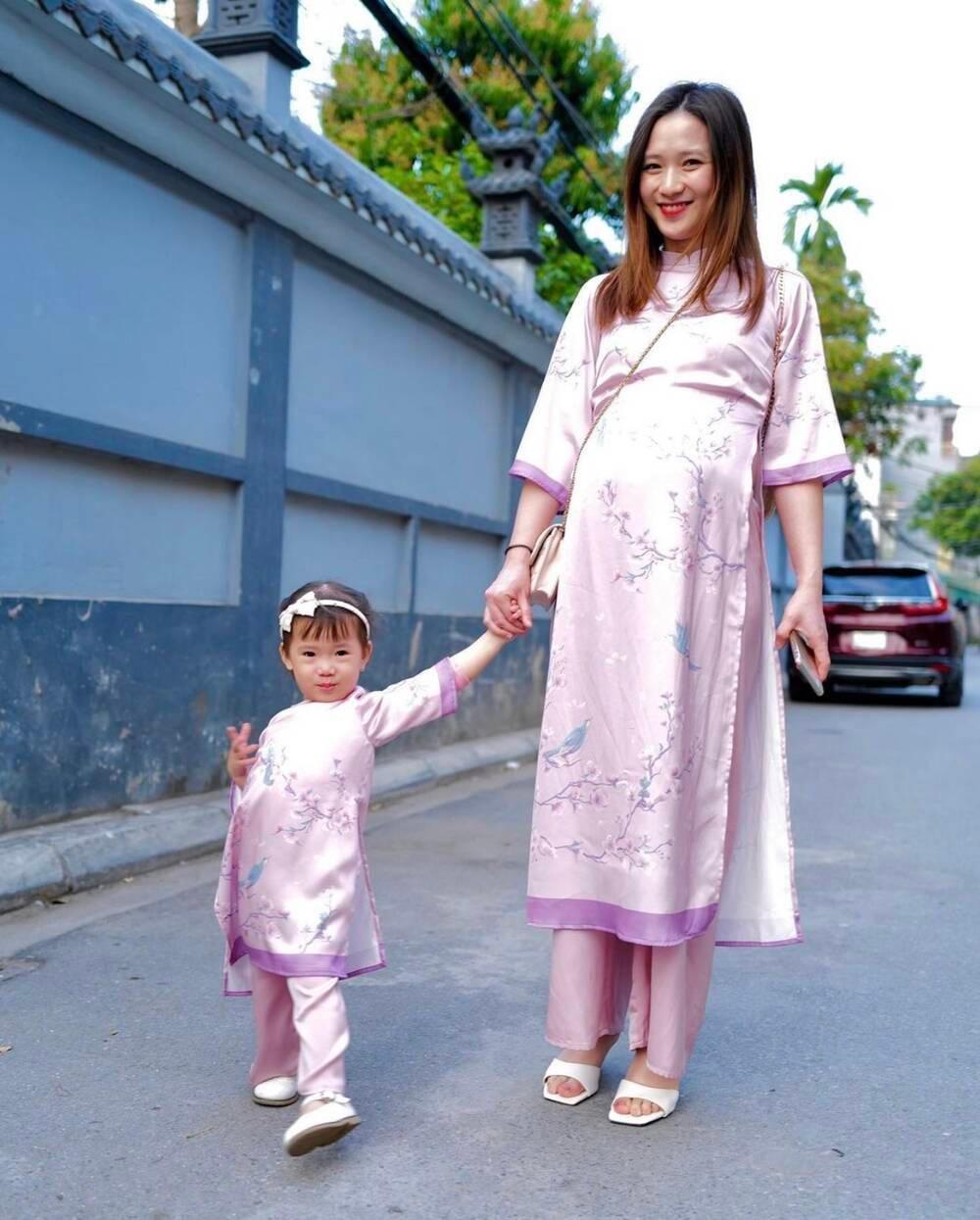 Đang mang bầu con thứ hai, bà xã JustaTee vẫn tự tin khoe nhan sắc đỉnh cao dịp Tết Ảnh 6