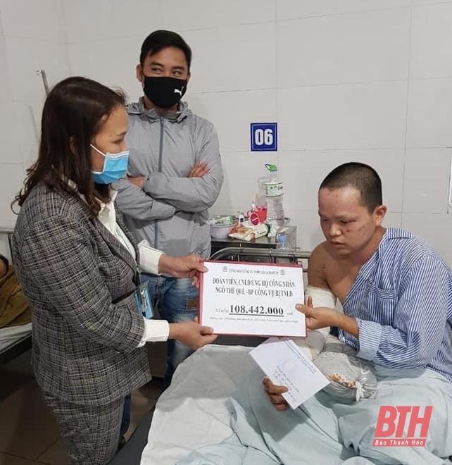 Đoàn viên, người lao động Công ty TNHH Giầy Aleron Việt Nam quyên góp ủng hộ đồng nghiệp bị tai nạn lao động Ảnh 2