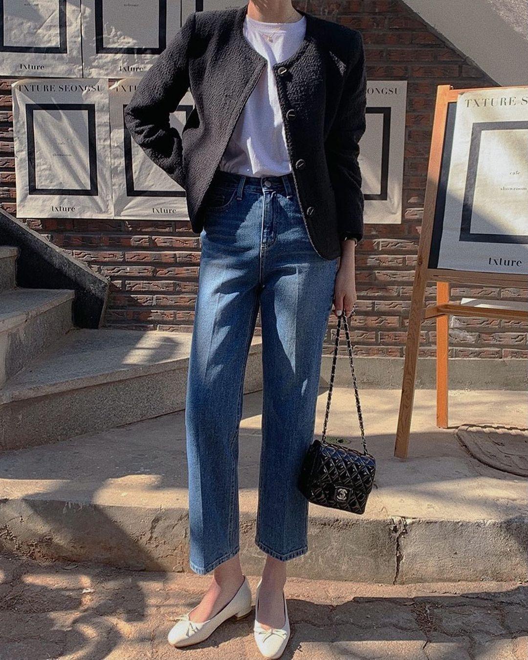 Kiểu giày búp bê hot nhất mùa Xuân: Diện với quần jeans hay váy đều xịn đẹp Ảnh 7