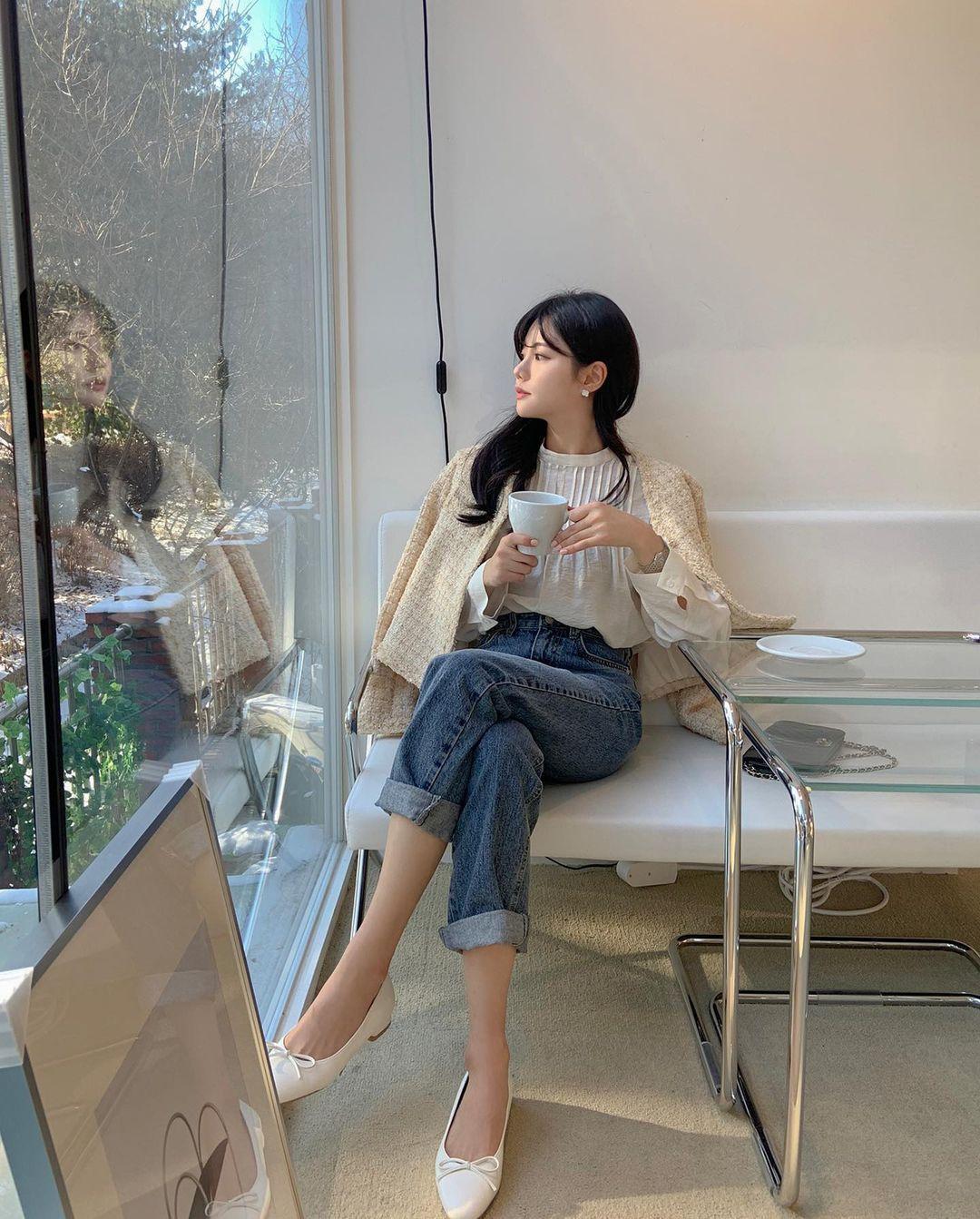 Kiểu giày búp bê hot nhất mùa Xuân: Diện với quần jeans hay váy đều xịn đẹp Ảnh 2
