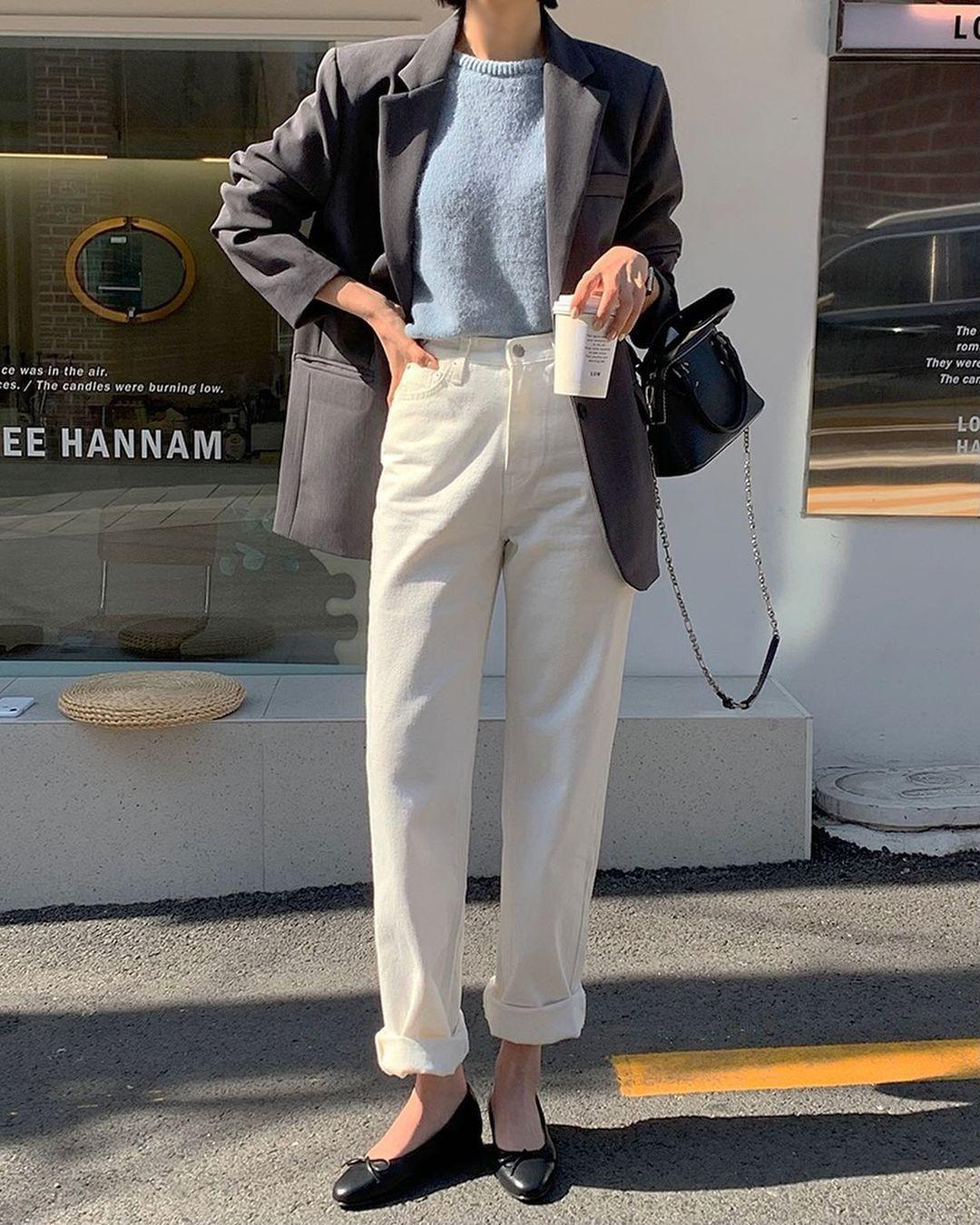 Kiểu giày búp bê hot nhất mùa Xuân: Diện với quần jeans hay váy đều xịn đẹp Ảnh 10
