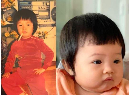 Cường Đô La gây sốt khi khoe ảnh thời bé với con gái Suchin Ảnh 1