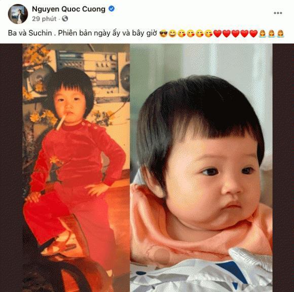 Cường Đô La gây sốt khi khoe ảnh thời bé với con gái Suchin Ảnh 5