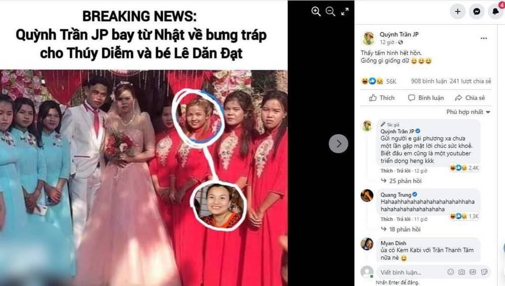 'Bản sao Quỳnh Trần JP' xuất hiện tại lễ cưới của 'Hotgirl quận Cam' Thúy Diễm khiến dân mạng ngỡ ngàng Ảnh 2