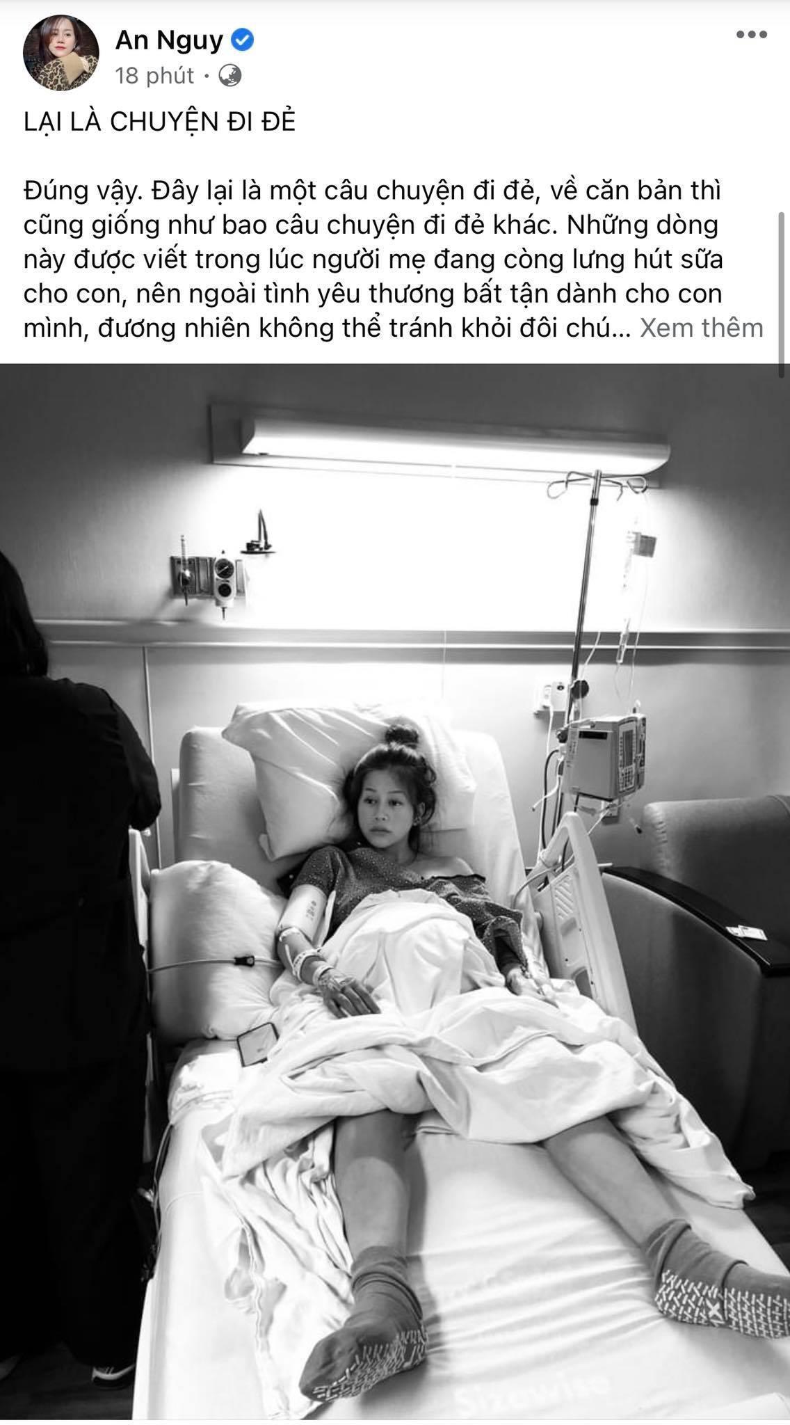 An Nguy xác nhận đã sinh con, kể chuyện 'lần đầu được bế em bé quá run chỉ sợ làm rớt con' Ảnh 1