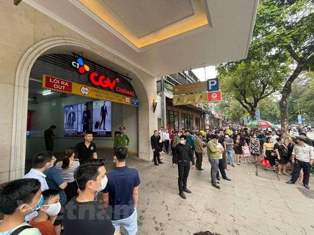 Hà Nội: Kịp thời dập tắt đám cháy tầng hầm Tràng Tiền Plaza Ảnh 2