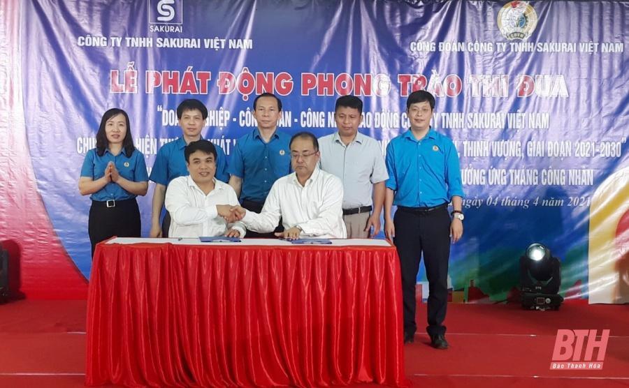 Doanh nghiệp - Công đoàn - công nhân, lao động Công ty TNHH Sakurai Việt Nam chung sức, thực hiện hóa khát vọng xây dựng quê hương Thanh Hóa văn minh, thịnh vượng Ảnh 1