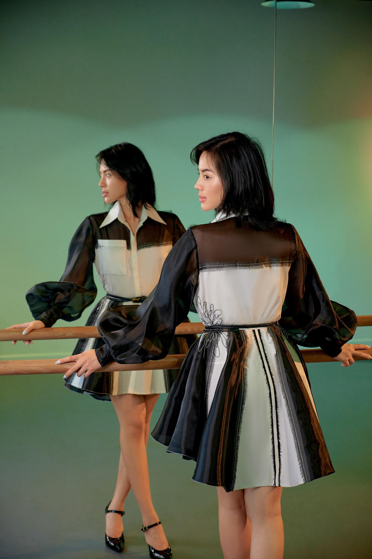 Khánh Linh hóa nàng xuân với trang phục tái chế của NTK Xuân Lê Ảnh 6