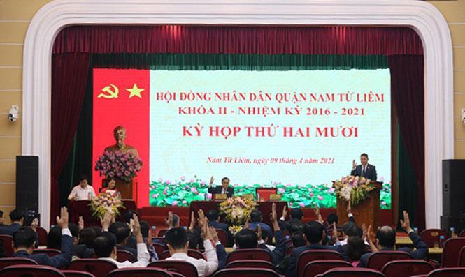 Đồng chí Nguyễn Thanh Bình được bầu làm Phó Chủ tịch UBND quận Nam Từ Liêm Ảnh 1