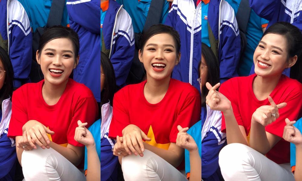 Teen chụp Hoa hậu Đỗ Thị Hà về trường giao lưu, ai nấy đều trầm trồ: 'Đẹp không góc chết!' Ảnh 2