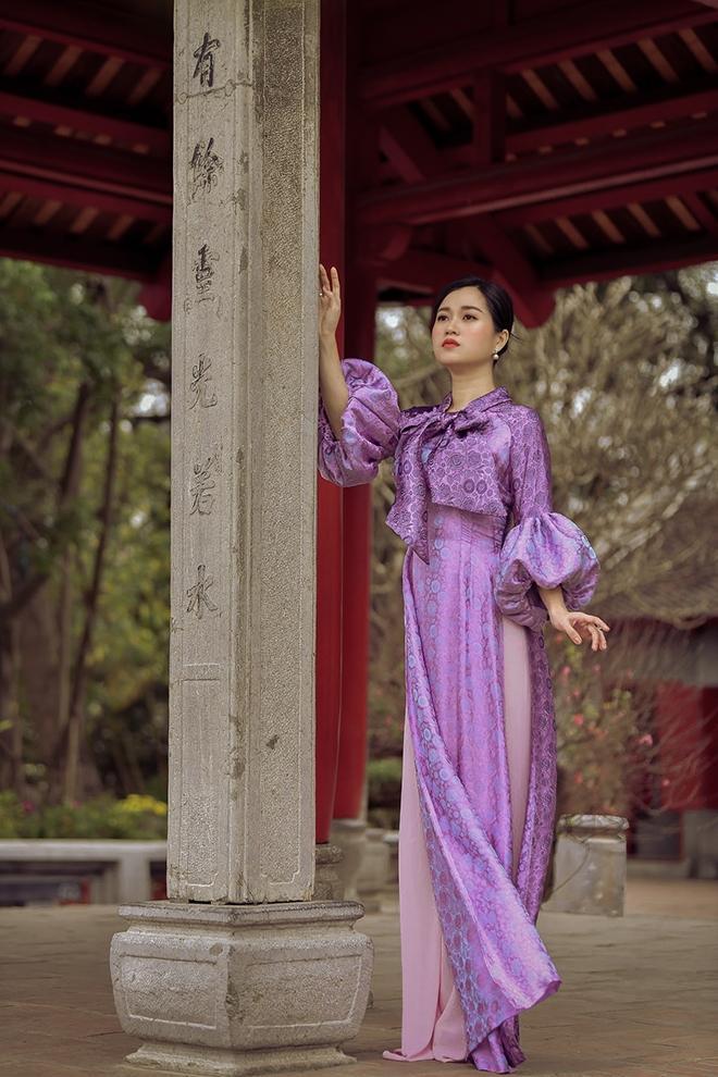 Lâm Vỹ Dạ bỗng nhiên dịu dàng nhờ áo dài của Đức Hùng Ảnh 8