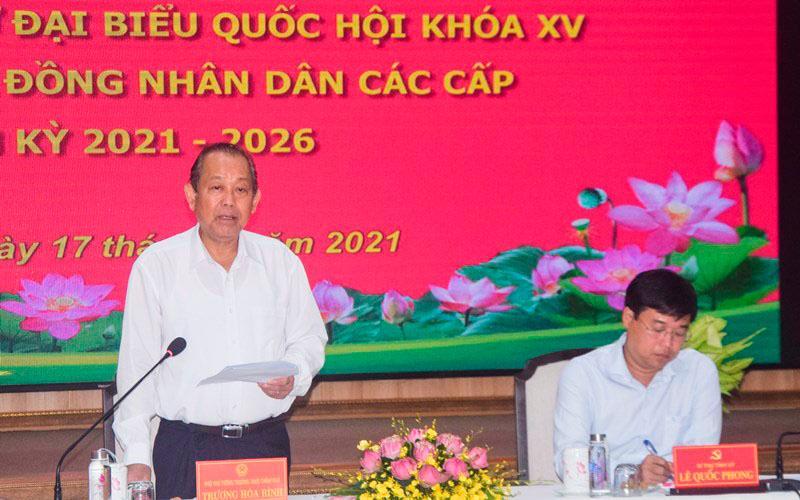 Phó Thủ tướng Trương Hòa Bình kiểm tra công tác bầu cử tại Đồng Tháp Ảnh 1
