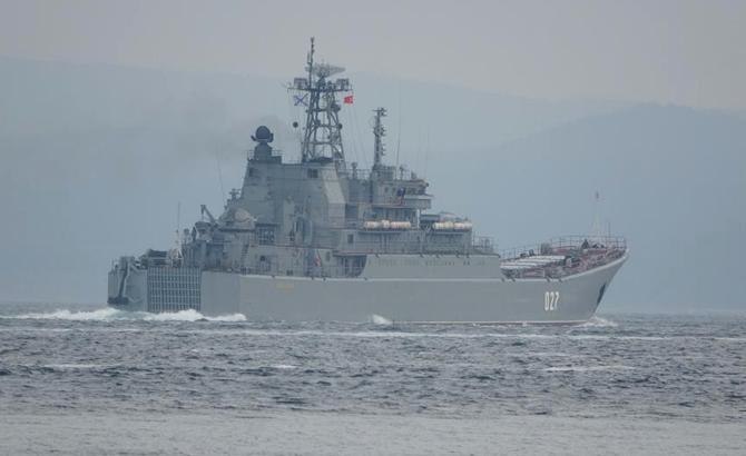 Hai tàu chiến Nga hướng đến Biển Đen Ảnh 1