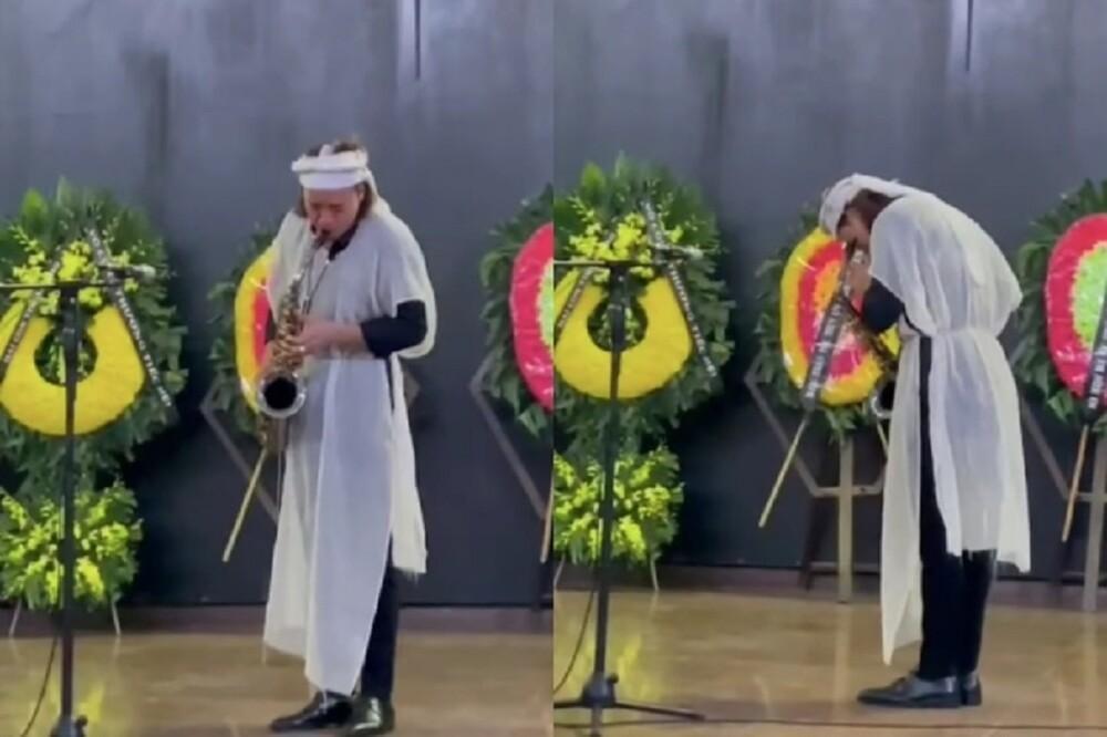 Nén nỗi đau, ông xã Việt Hương chơi bản nhạc cuối cùng tặng mẹ trong lễ tang khiến nhiều người xúc động Ảnh 2