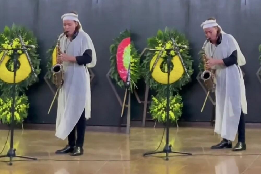 Nén nỗi đau, ông xã Việt Hương chơi bản nhạc cuối cùng tặng mẹ trong lễ tang khiến nhiều người xúc động Ảnh 1