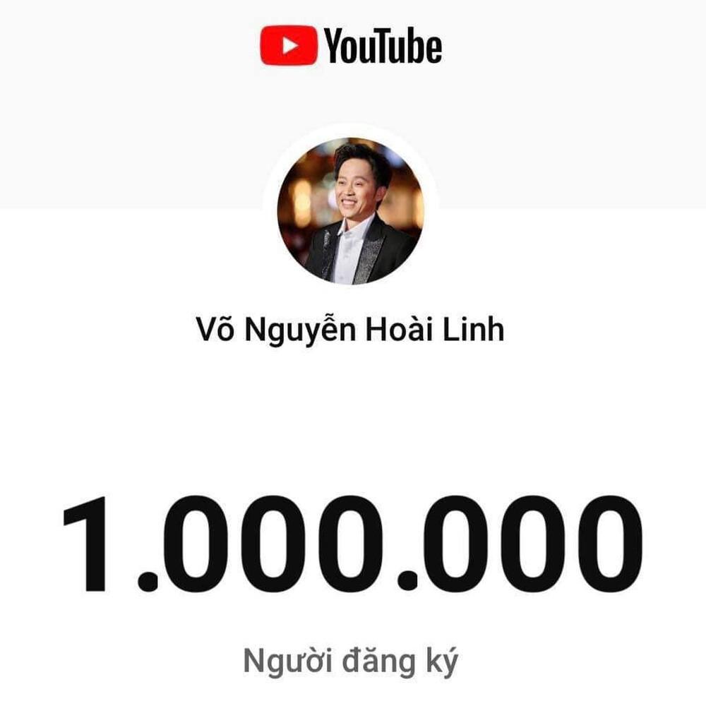 Chỉ sau 3 tháng, kênh Yotube Hoài Linh đạt 1 triệu đăng kí: Nút bạc chưa về lại nhận tiếp nút vàng Ảnh 4