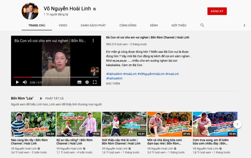Chỉ sau 3 tháng, kênh Yotube Hoài Linh đạt 1 triệu đăng kí: Nút bạc chưa về lại nhận tiếp nút vàng Ảnh 6