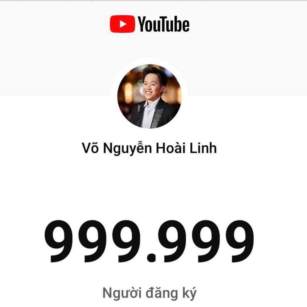 Chỉ sau 3 tháng, kênh Yotube Hoài Linh đạt 1 triệu đăng kí: Nút bạc chưa về lại nhận tiếp nút vàng Ảnh 3