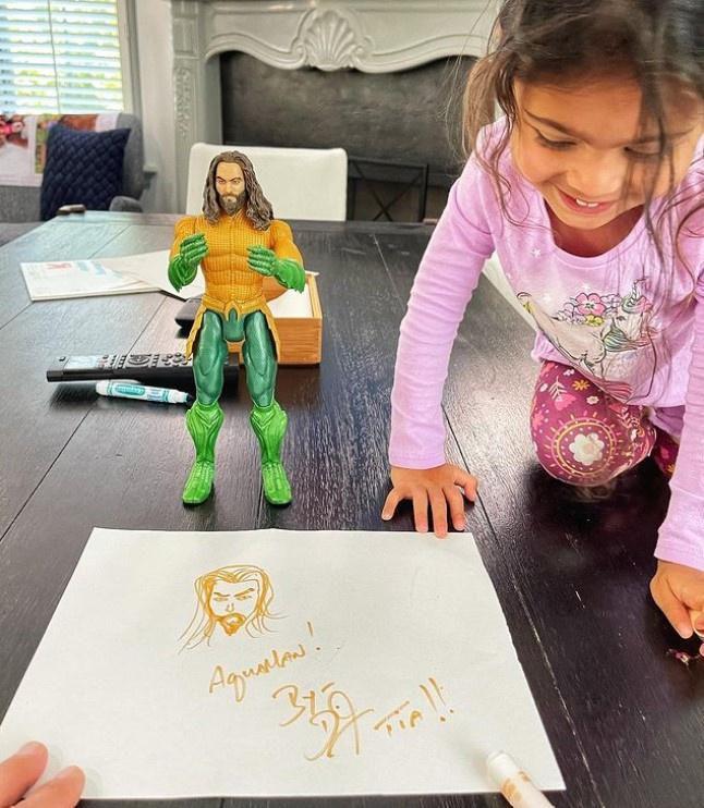 Con gái The Rock là fan của 'Aquaman' Jason Momoa Ảnh 2