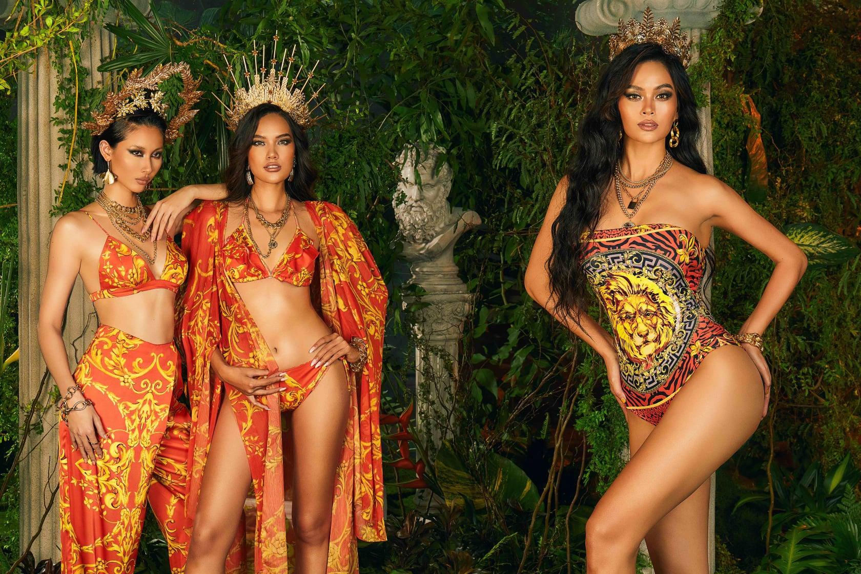 Mâu Thủy, Hằng Nguyễn, Hoàng Phương hóa nữ thần nóng bỏng trong bộ sưu tập xuân hè 'Barroco' Ảnh 5