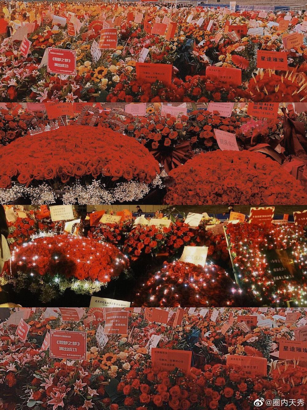 Một 'rừng hoa' của fan gửi trước nhà hát để chúc mừng Tiêu Chiến với vai diễn thành công rực rỡ Ảnh 10