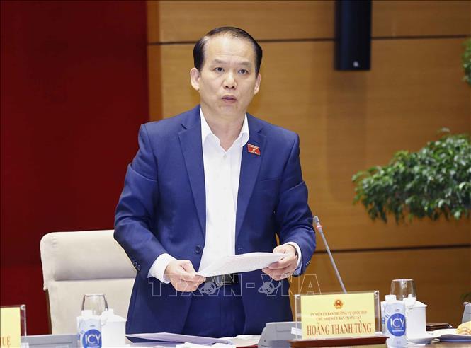 Chủ tịch Quốc hội Vương Đình Huệ làm việc với Thường trực Ủy ban Pháp luật Ảnh 3
