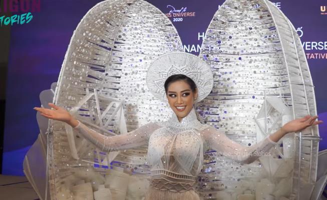 'Kén Em' - Trang phục dân tộc của Việt Nam sẽ khoe sắc tại Miss Universe chính thức lộ diện Ảnh 1