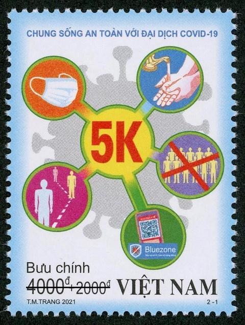 Bộ tem 'Chung sống an toàn với đại dịch COVID-19' Ảnh 1
